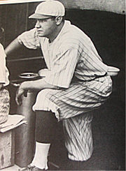 Ruth in 1920, the year he joined the Yankees.