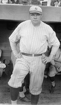 Babe Ruth in 1921, arguably his finest season.