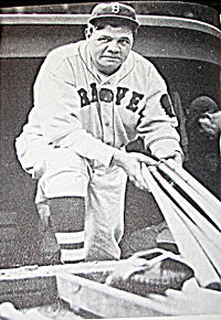 Ruth in a Boston Braves uniform in 1935, his last year as a player.