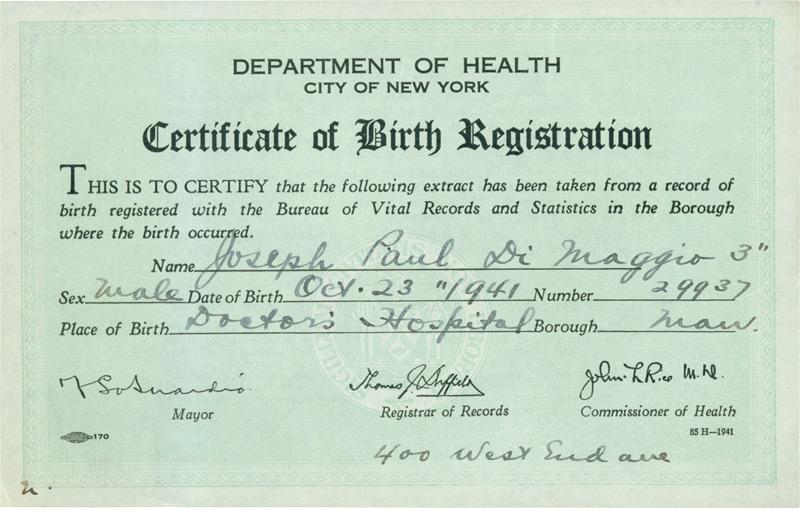 Birth Certificates New York City - oukas.info
