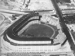 The Polo Grounds, home of the Yankees from 1913 to 1922
