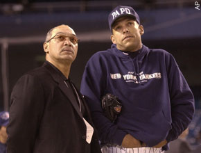 Reggie Jackson (left) and David Justice (right)