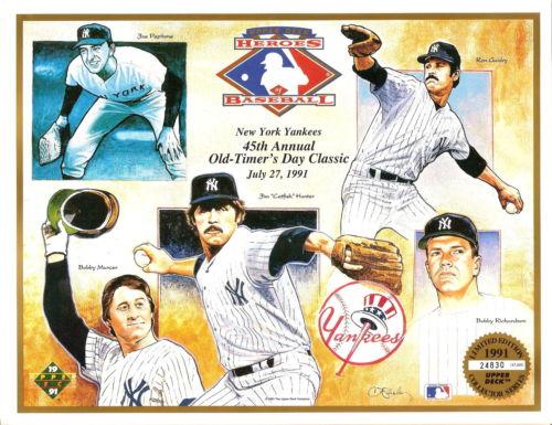 NEW YORK YANKEES Old Timers/' Day July 1978 Program BERRA MANTLE DIMAGGIO MARIS
