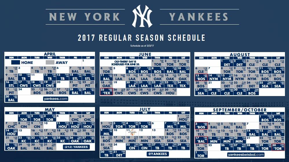 Ny Yankees 2020 Schedule .HistoryOfTheYankees.com